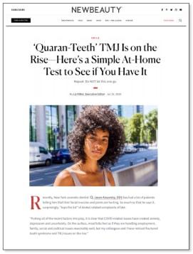 New Beauty article screenshot